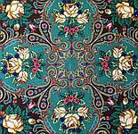 Песнь уходящего лета 1827-17, павлопосадский платок шерстяной с шелковой бахромой, фото 5