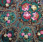 Песнь уходящего лета 1827-17, павлопосадский платок шерстяной с шелковой бахромой, фото 4