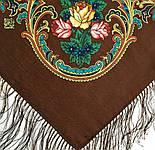 Песнь уходящего лета 1827-17, павлопосадский платок шерстяной с шелковой бахромой, фото 8