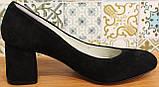 Туфли женские замшевые от производителя модель КЛ8003-6, фото 3