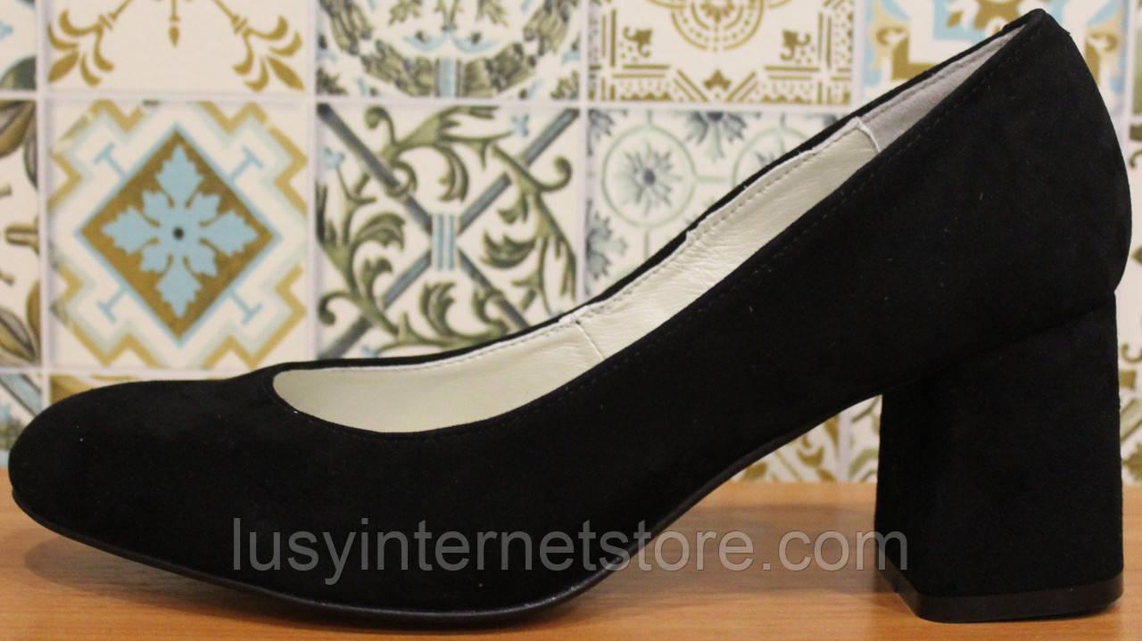 Туфли женские замшевые от производителя модель КЛ8003-6