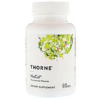 Никотинамид Рибозид 125 мг, Nicotinamide Riboside NiaCel, Thorne Research, 60 капсул
