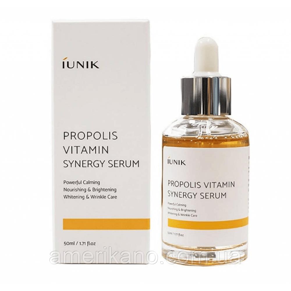 Сыворотка для лица с прополисом и витаминным комплексом IUNIK Propolis Vitamin Synergy Serum, 50 мл