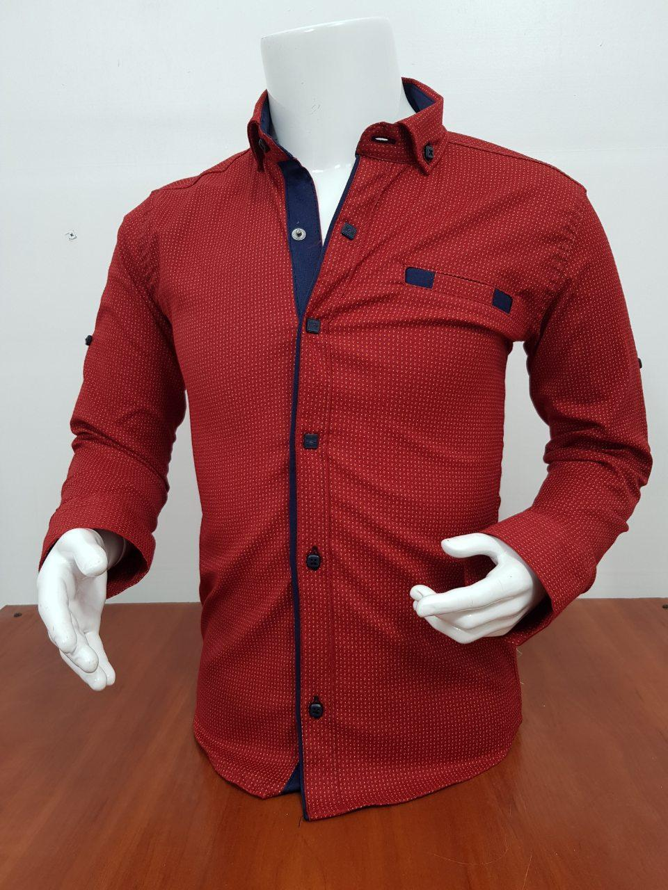 Рубашка для мальчика с длинным рукавом 6-11 лет