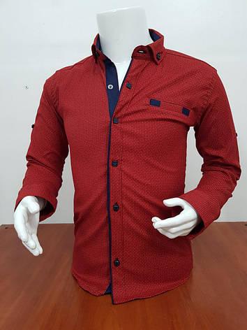 Рубашка для мальчика с длинным рукавом 6-11 лет, фото 2