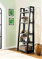 Открытая деревянная этажерка на 5 полок 1800х600х450х200 мм.
