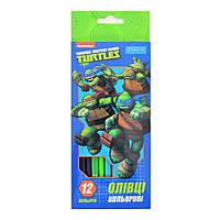 """Карандаши 12 цветов """"Ninja Turtles"""" 1 Вересня"""