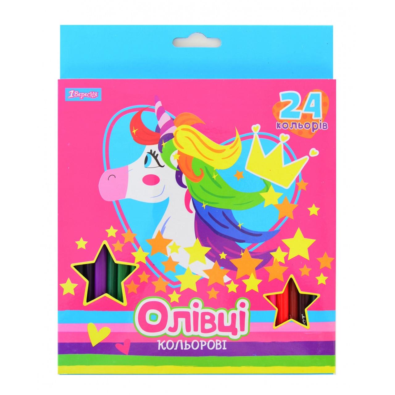 """Карандаши 24 цвета """"Magic unicorn"""""""