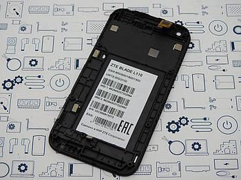 Дисплей ZTE Blade L110 модуль черный( много царапин) Сервисный оригинал с разборки