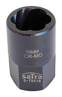 """Головка ударная Cr-Mo для слизанных гаек 6-гр. 1/2"""" 16 мм SATRA S-TSX16"""
