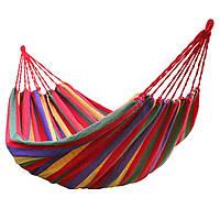 Гамак мексиканский 200*80 полосатый цветной, фото 1
