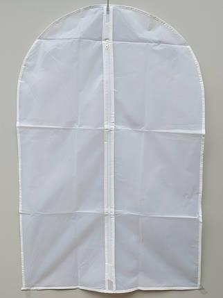 Чехол для хранения одежды плащевка бело-прозрачного цвета. Размер 60х90 cм, фото 2