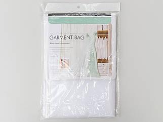 Чехол для хранения одежды плащевка бело-прозрачного цвета. Размер 60х110 cм