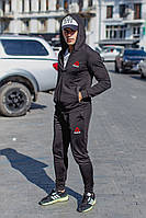 Костюм спортивный мужской из двунитки на дайвинге с капюшоном Копия (К28602), фото 1