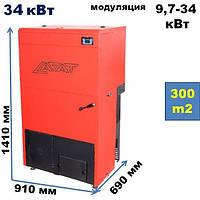 Пеллетный котел Lafat Eco Pro (Slim) 34 кВт автоматический (Босния и Герцеговина)