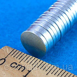 (10шт) Магнит неодимовый (шайба 10х1,4мм) Выдерживает вес до 0,6 кг.