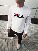 Мужской спортивный костюм в стиле Fila Белый