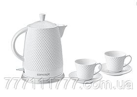 Керамический электрочайник Concept RK-0040 с двумя чашками