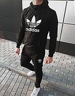 Мужской спортивный костюм в стиле Adidas черный