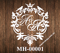 Свадебная монограмма герб МН-00001