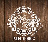 Свадебная монограмма герб МН-00002