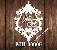 Свадебная монограмма герб МН-00006