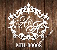 Свадебная монограмма герб МН-00008
