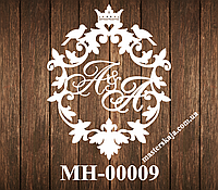 Свадебная монограмма герб МН-00009