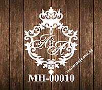 Свадебная монограмма герб МН-00010