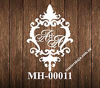 Свадебная монограмма герб МН-00011