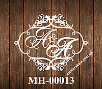 Свадебная монограмма герб МН-00013