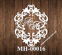 Свадебная монограмма герб МН-00016