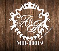 Свадебная монограмма герб МН-00019