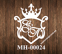 Свадебная монограмма герб МН-00024
