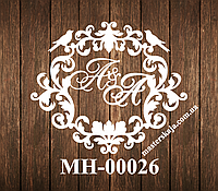 Свадебная монограмма герб МН-00026