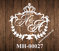 Свадебная монограмма герб МН-00027