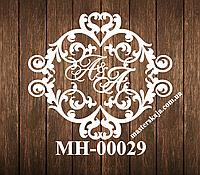Свадебная монограмма герб МН-00029