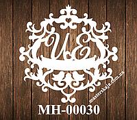 Свадебная монограмма герб МН-00030