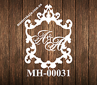 Свадебная монограмма герб МН-00031