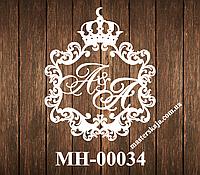 Свадебная монограмма герб МН-00034