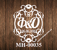 Свадебная монограмма герб МН-00035