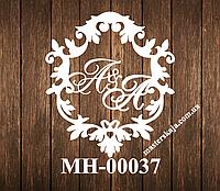 Свадебная монограмма герб МН-00037