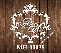 Свадебная монограмма герб МН-00038