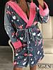 Женский милый и уютный халат с сердечками, фото 3