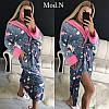 Женский милый и уютный халат с сердечками, фото 4