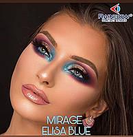 Цветные линзы ЛЮКС качество Rainbow Mirage ELISA BLUE с диоптриями от -1 до -6 с шагом 0,5 Турция