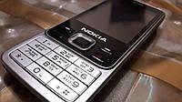 Телефон кнопочный мобильный на 2 сим карты Нокиа 6300 с камерой Корпус Металл silver + Подарок/Акция