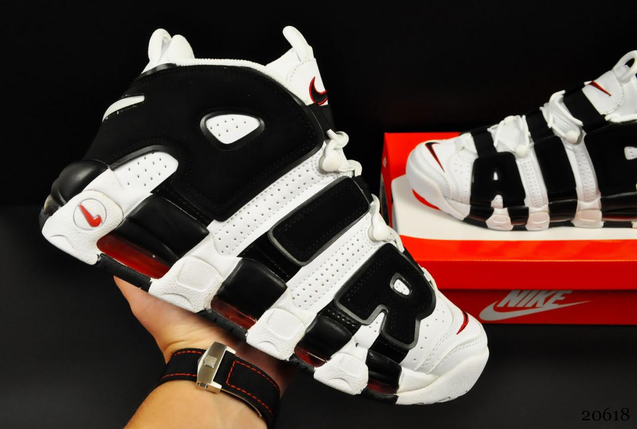 Кроссовки Nike Air More Uptempo арт 20618 (мужские, белые, найк)