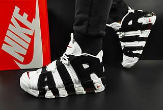 Мужские Кроссовки Nike Air More Uptempo арт 20618 (мужские, белые, найк), фото 2