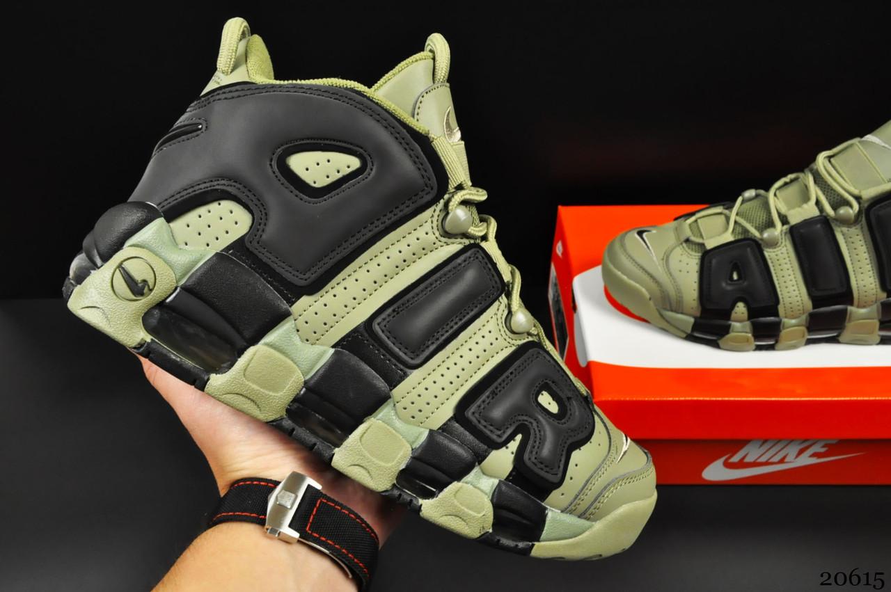 Кроссовки Nike Air More Uptempo арт 20615 (мужские, хаки, найк)